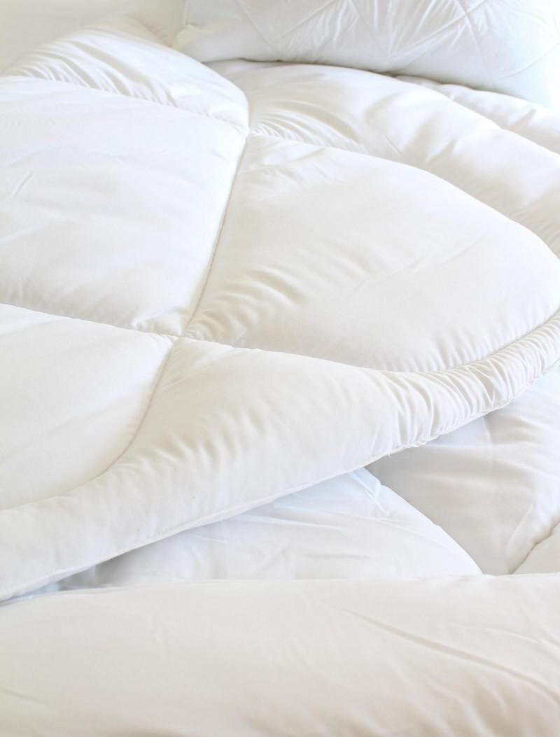 Bettdecke 220x230 Wolle Sommerdecke Wolldecke Natural Steppbett Decke Baumwolle