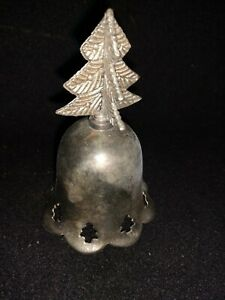 """[[ProductTitle]Vintage Christmas Holiday Silver Bell 4"""""""