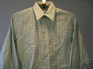 Geoffrey-Beene-Casual-Shirt-Green-White-S-Men-039-s-Clothing-New-NWT