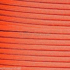 Solar Orange Paracord 50 Foot 550 lb Bracelet Camping Survival Kit Rope
