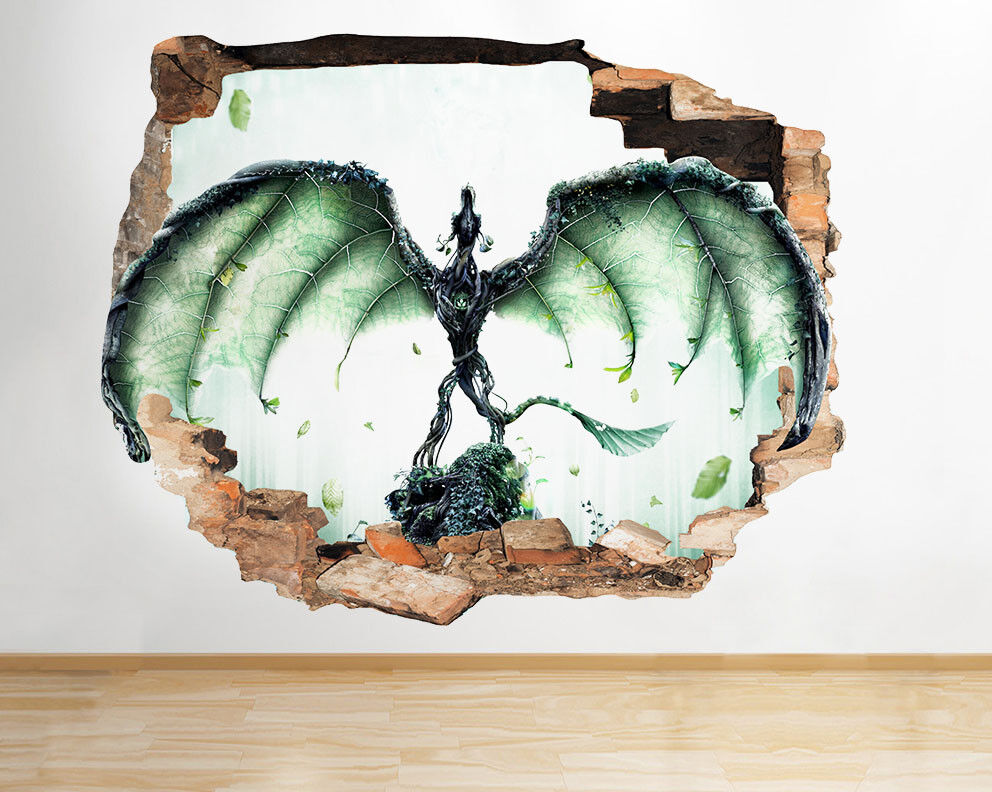 D924 drago ali della fantasia dei ragazzi  adesivo da parete camera bambini