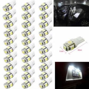 50Pcs Super White T10 Wedge 5 SMD 5050 LED Light bulbs W5W 2825 158 192 168 194