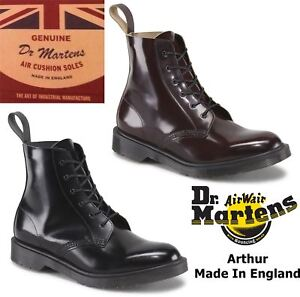 7bf0cadcafe Details about Dr Martens Mens Arthur Made In England Boanil Brush 2 Tone  Leather 6 Eye Boots