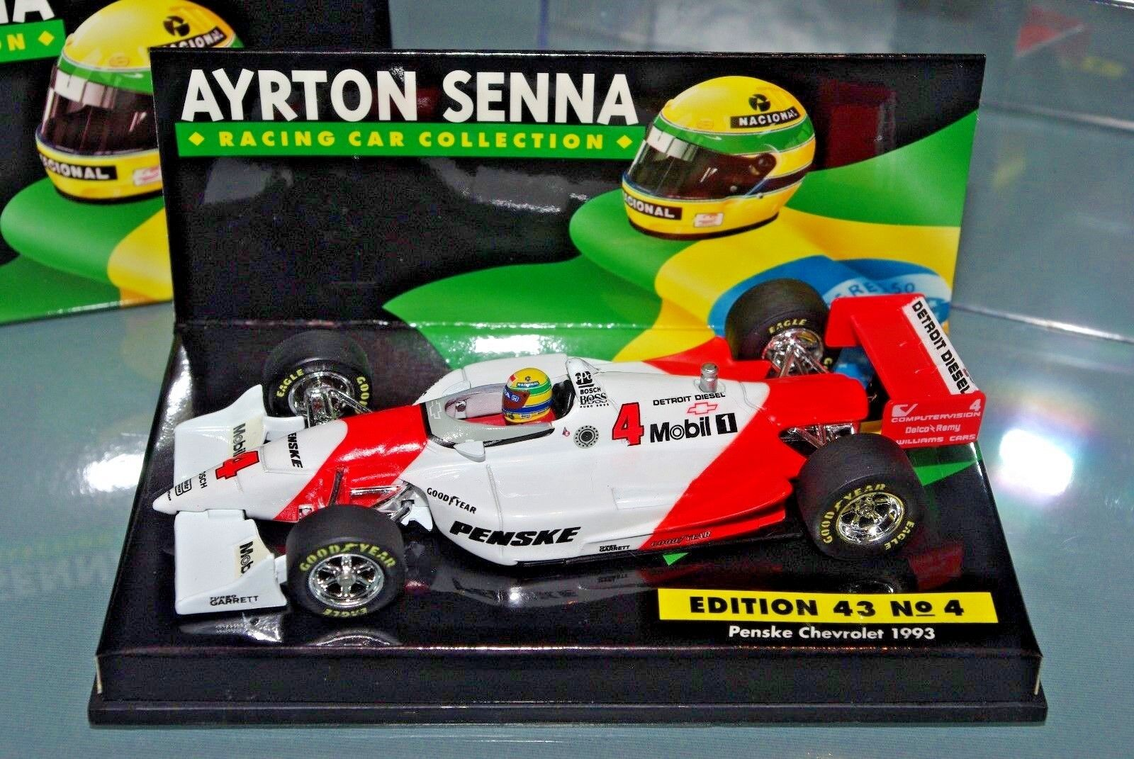 Minichamps Indy 1 43 Penske Chevrolet 1993-Ayrton Senna Colección