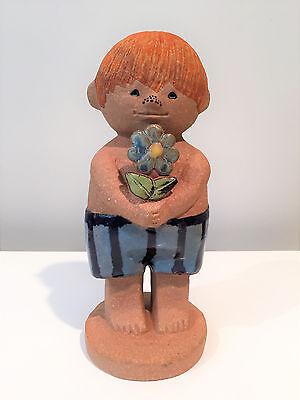 Lisa Larson Pottery Large Adam Figurine for Gustavsberg Sweden Circa 1972
