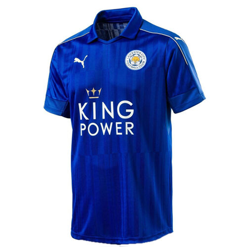 67d34b1ee PUMA Mens Football Leicester City FC Home Jersey Shirt Top 2016 2017 Blue  White M for sale online