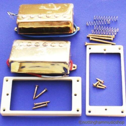 GOLD HUMBUCKER PICKUPS+RINGS+SCREWS ELECTRIC GUITAR LP