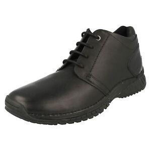 Hombre-77562-Negro-Botas-altas-de-piel-con-cordones-de-Timberland