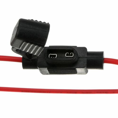 10Stck 18 AWG Gauge Kupfer 12 Volt ATC Sicherungshalter Draht Kabel Auto Car