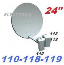 """24"""" SATELLITE DISH NETWORK LNB 110 119 118 1000 500 FTA INDIAN ASIAN ANIK F3 HD"""