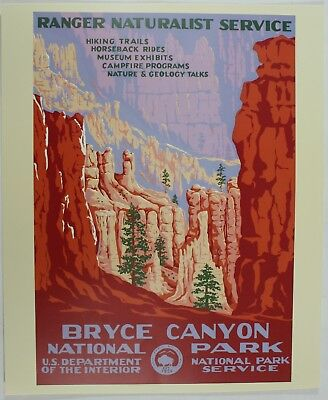 Bryce Canyon National Park Service Vintage Federal Art Wpa Style Travel Poster Ebay