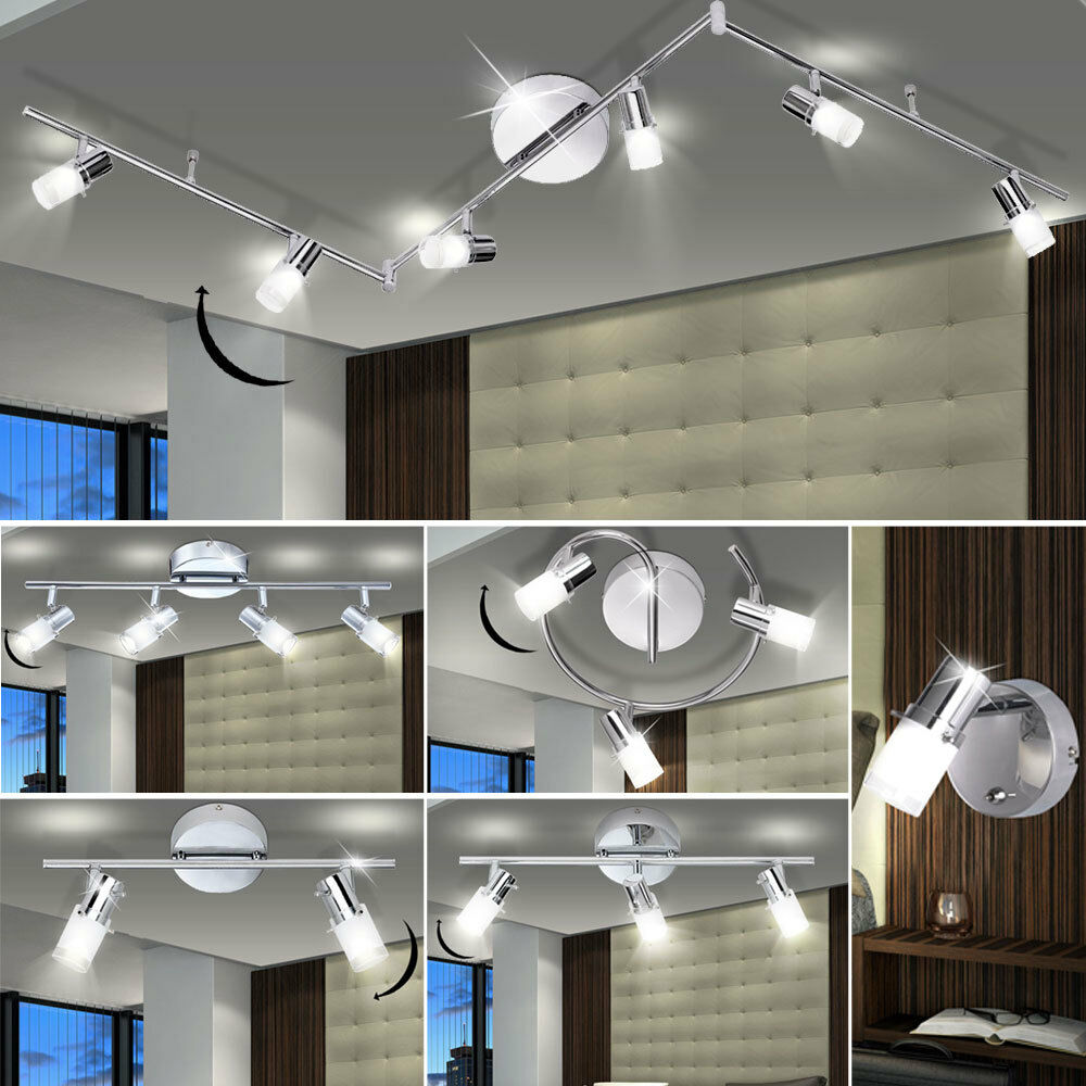 LED wall lights living room lighting ceiling spotlights glass spots movable new