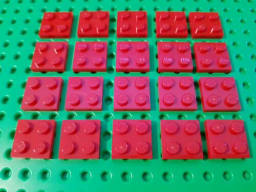 red City #AA53 LEGO® 20 x 3022 Platte 2 x 2 rot 302221