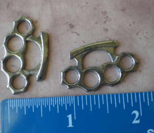 50 Large Silver Brass Knuckles Duster CHARMS Pendants Fight Knuckle Charms Fight