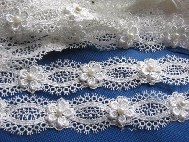 5 Yards Vintage Lace Mesh Trim Ribbon Wedding Applique DIY Sewing Craft Gift