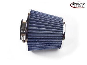 Stoney-Racing-Filtro-de-aire-cono-doble-89mm-Azul-Cuello-ingesta-de-induccion-de-aire-Deportes