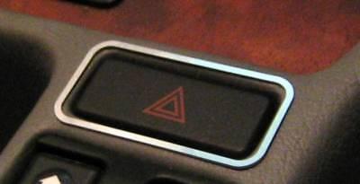 Edelstahl poliert D Citroen C1 Chrom Rahmen für Schalter Warnblinker// Gebläse
