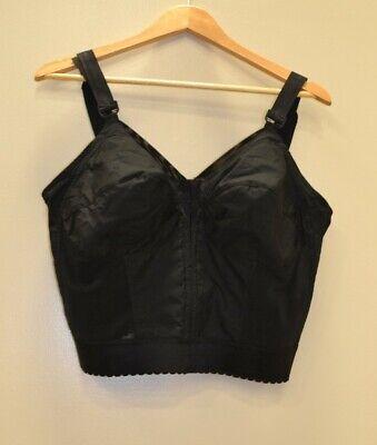 Black 42D EXQUISITE FORM Womens Front Close Longline Bra 5107530