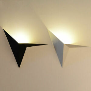 Details About Modern Simplistic Creative Triangle Metal Shade Indoor Uplight Led Wall Light