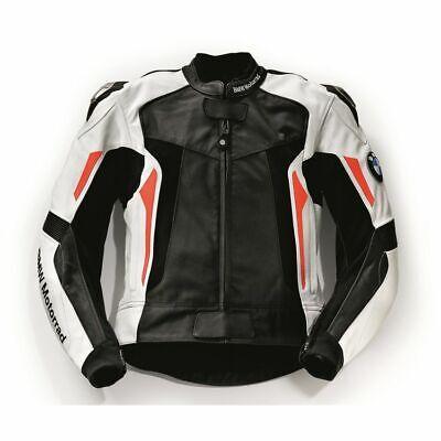 BMW Genuine Motorrad Motorcycle Race Jacket Black White Blue Red Size S