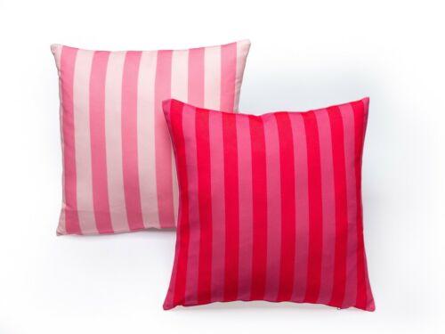 2 Pcs Decorativo Almofada Capas De Almofada Rosa Claro-Escuro Listrado 18 X 18