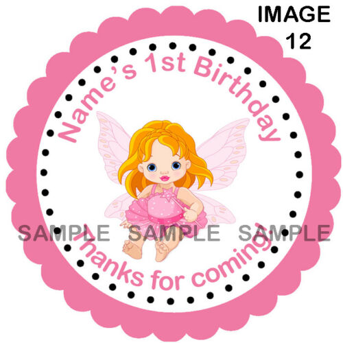 Personalised 1st Birthday Party Autocollants étiquettes pour Sweet Cônes etc 08-10J
