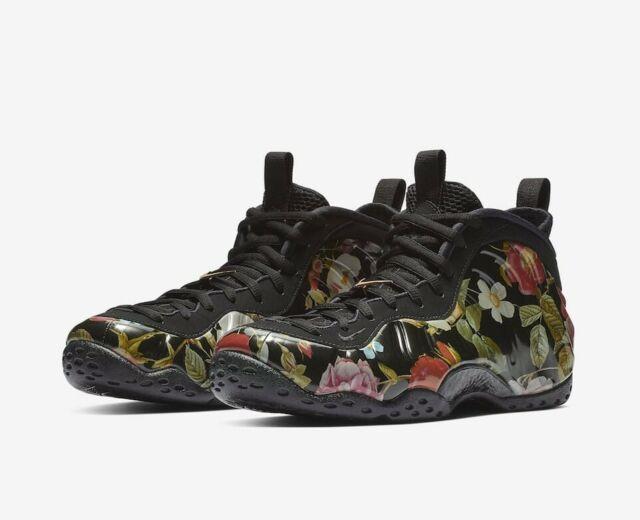2fcbc09696a90 Nike Air Foamposite One Floral Mens 314996-012 Black Multicolor Shoes Size 8
