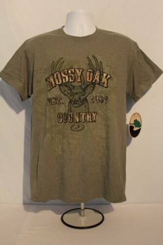 NEW Mens Mossy Oak Country T Shirt Medium Top Buck Deer Hunting Camo Graphic Tee