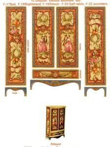 1-24-scale-Natasha-Beshenkovsky-039-s-Mini-Decoupage-Decor-Rococo-Bedroom-Armoir