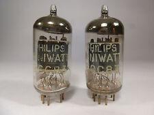 one pair 12AX7 ECC83 Philips Miniwatt Made in Heerlen Holland tested on U61C