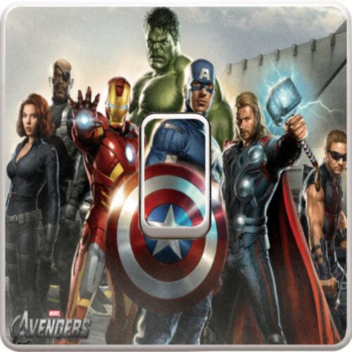 Marvel Avengers Interrupteur De Lumière Vinyle Autocollant Décalque Pour Enfants Chambre à coucher