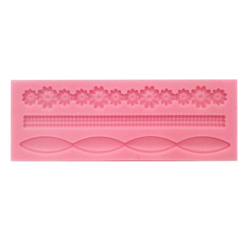 3D Borders Fondant Icing Silicone mould Sugarcraft modelling tool