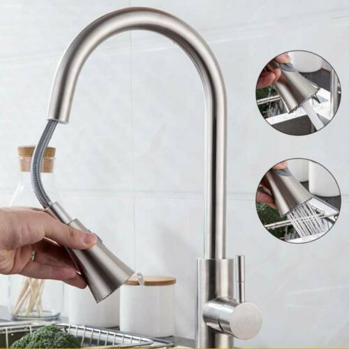 360°Ausziehbar Wasserhahn Küchenarmatur Mischbatterie Spültischarmatur Edelstahl