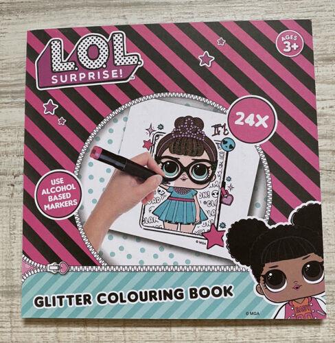 LOL Surprise Glitzer Malbuch für Kinder 24 Seiten Neu .2