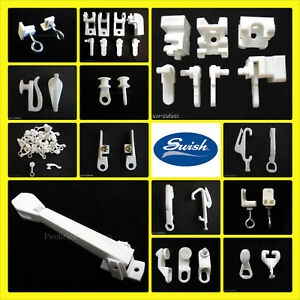Swish Curtain Track Parts Fittings Gliders End Stops