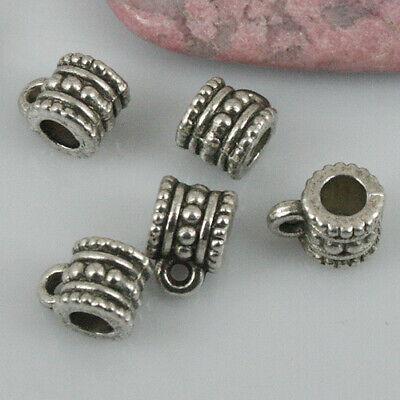 40pcs Tibetan silver hear crown connectors EF1309