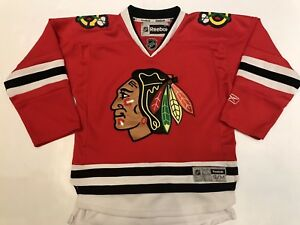 NEW-Reebok-Chicago-Blackhawks-Youth-S-M-NHL-Jersey