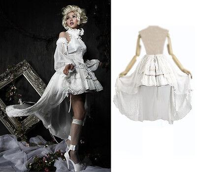 Pyon Pyon Rock Cape Barock Alice Spitze Weiß Victorian Gothic Lolita Skirt Punk