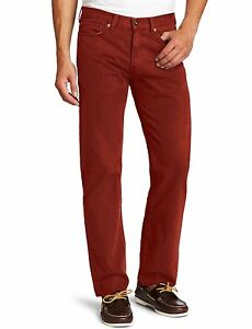New-Dockers-Men-s-Straight-Fit-5-Pocket-Corduroy-Jeans-Pants-Rust-MSRP-58