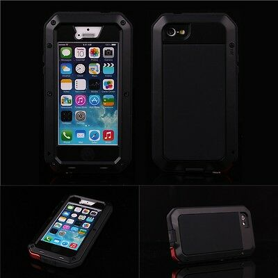 Aluminum Gorilla Glass Metal Cover Case for iPhone 5 5S 5G Waterproof Shockproof