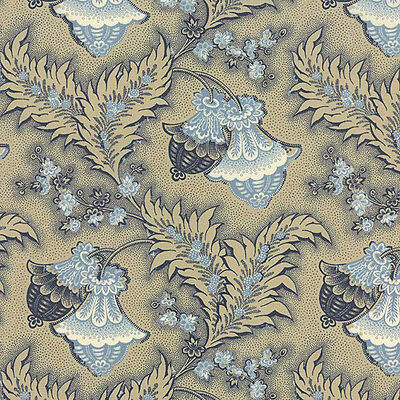 Moda Rue Indienne 13682-16 Pascal Indigo Pods Priced Per ½ Yard French General