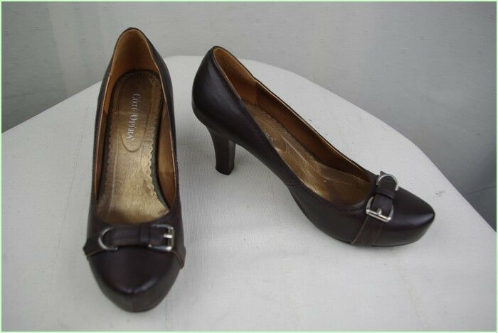 Court shoes COTE OPERA Leather Dark brown T 40 VERY GOOD CONDITION