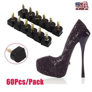 60Pcs-Ladies-Shoes-Repair-High-Heel-Tips-Tap-Stiletto-Replacement-5-Sizes-Pin