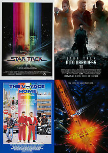 Image Is Loading Star Trek Movie Poster Collection Laminated A4 Buy
