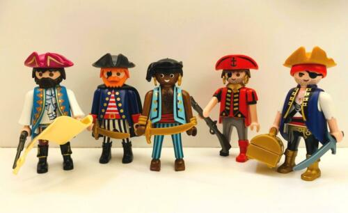 PIRATE CREW PLAYMOBIL Lot of 5 PIRATE MOB FIGURES with ACCESSORIES