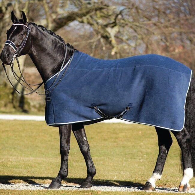 Horseware Rambo  Deluxe Fleece-Navy with beige  connotación de lujo discreta