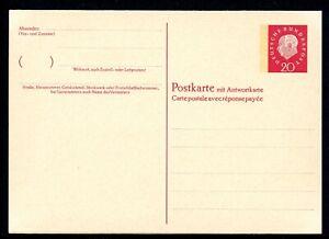 Bund-Ganzsache-MiNr-P-47-postfrisch-MNH-Postkarte-mit-Antwortkarte-V660