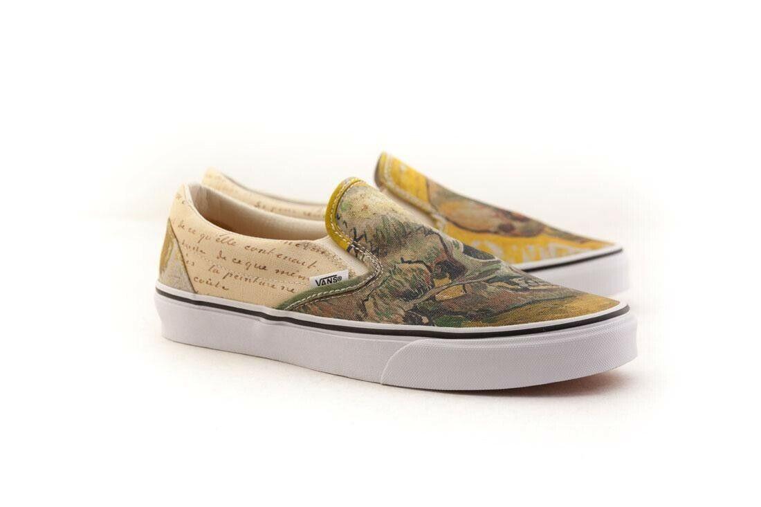 VN08F7U48 Vans Men Classic Slip-On - Van Gogh braun letters turtledove