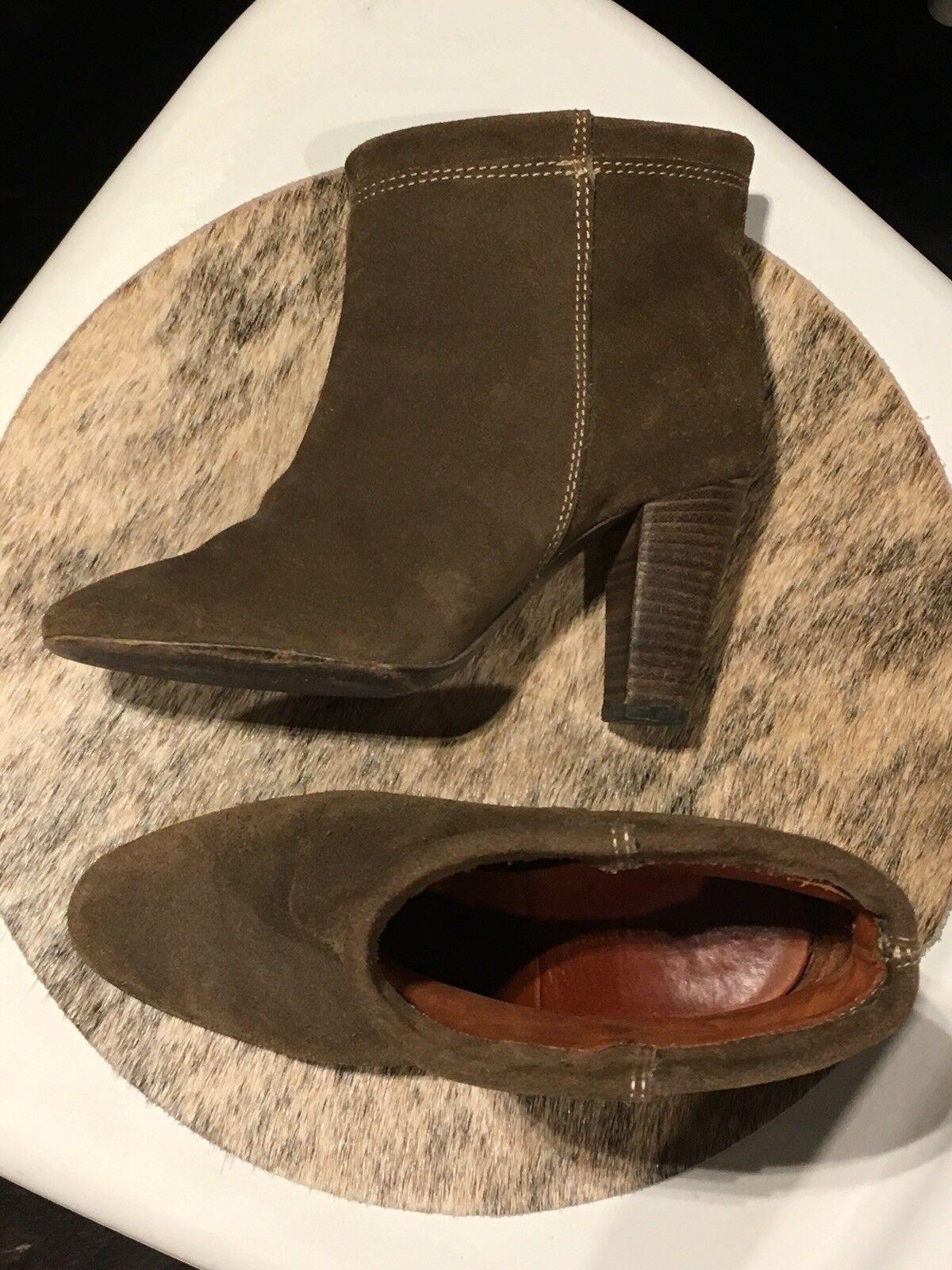 Isabel Marant botas al Tobillo (adaptada) Ante Marrón Taupe Taupe Taupe tan verde oliva, talla 37  descuento de ventas