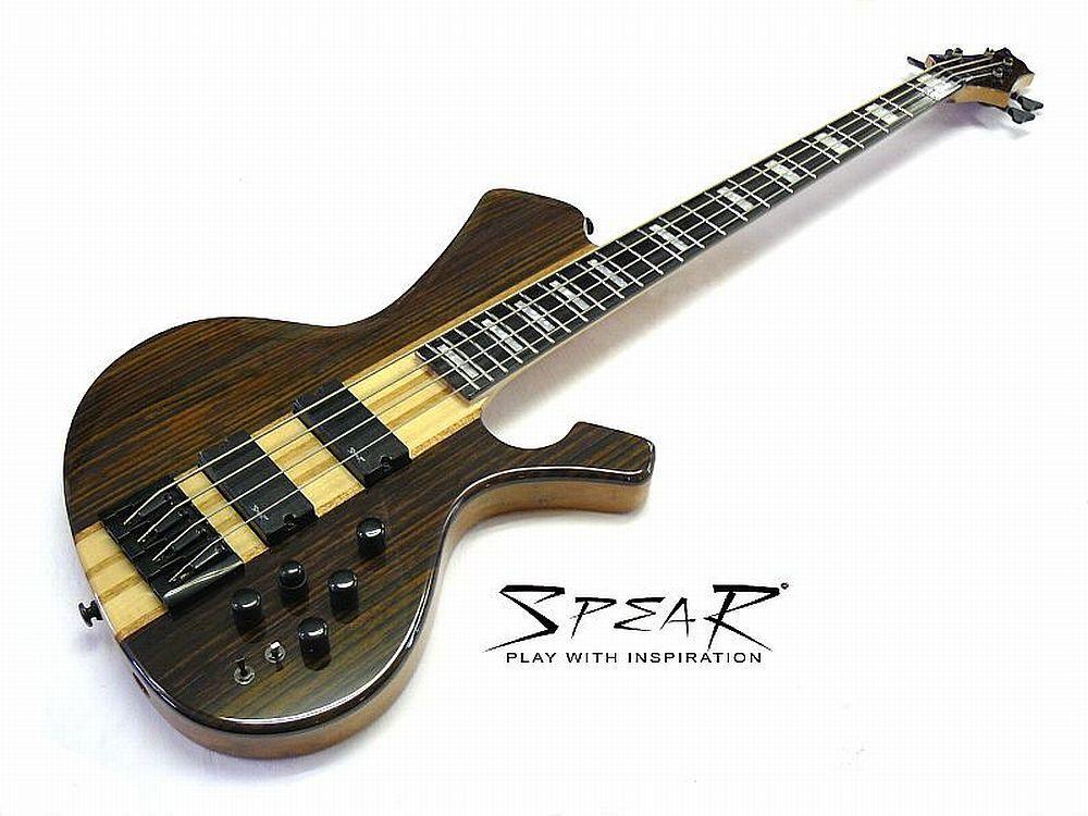 Aktiver E-Bass SPEAR S-2E 4St Ebenholz Top